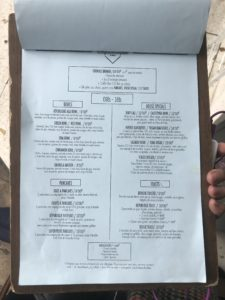 Menu prix brunch republique of coffee paris 2019
