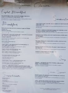 Vinnies amsterdam menu