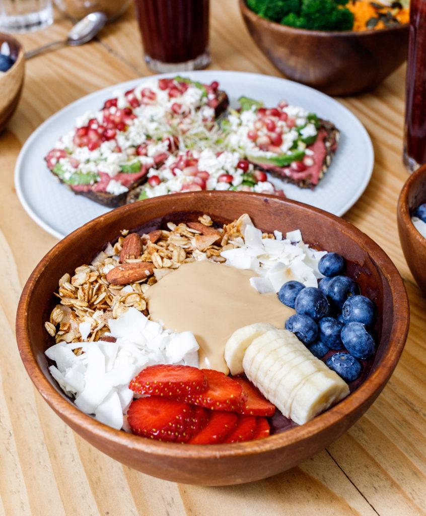 Acai bowl, sloe restaurant paris. Lieux healthy Paris