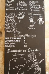 Menu KURO espresso Bar