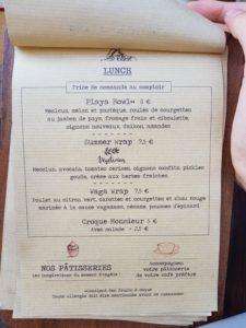 Menu Café Piha Bordeaux