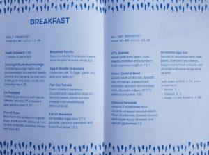 CT Coffee and coconut Amsterdam menu