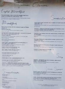 Vinnies amsterdam menu