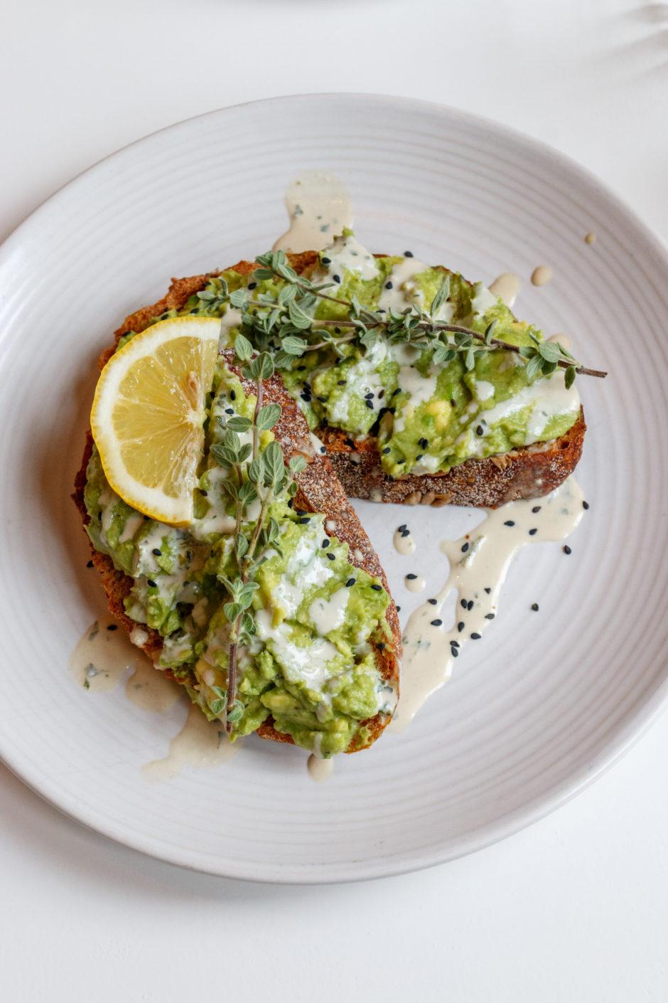 Cotton Cake avocado toast