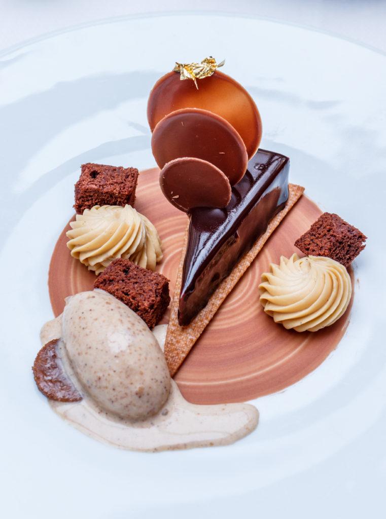 Sablé Spéculoos, Chocolat Caraïbes 66% et glace spéculoos