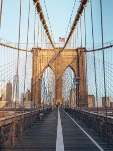Sunrise sur Brooklyn Bridge